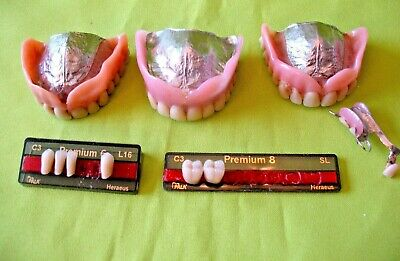 Selection False DENTURE TEETH Titanium frames Have Been Used Made Professionally