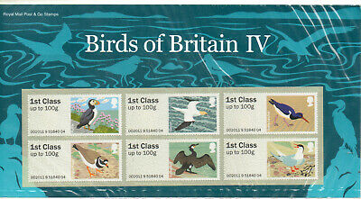 Gb 2011 Post And Go Pack Birds Of Britain 1V Ms Below Face