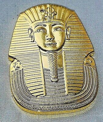 Egypt Pharaoh Gold Coin Medal Old Pyramid Sphinx Ancient Death Mask King Tuts UK