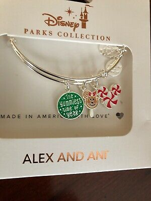Disney Alex And Ani Yummiest Time Of Year 2019 Christmas Silver Bracelet