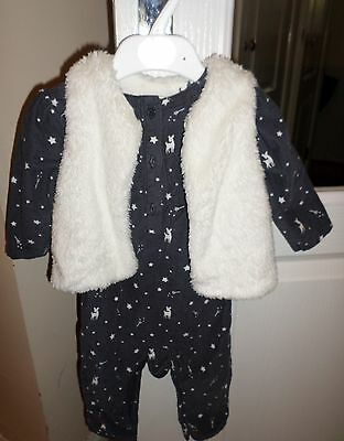Marks & Spencer Baby Girl's 2 Piece Outfit Age 9-12 months-NEW with TAG rrp £24