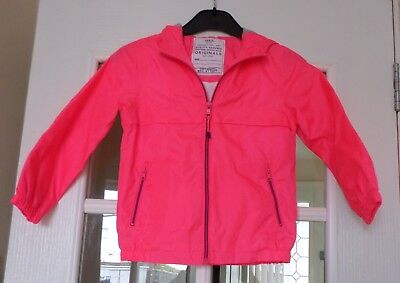 Marks and Spencer Girls Pink Pack-Away Hooded Mac - Age 5-6 - New with Tag