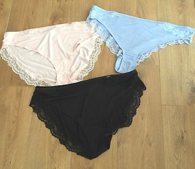 Marks & Spencer Autograph 3 Pairs of  Knickers - Touch of Cashmere-Size 28-BNWT