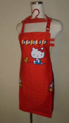 Sanrio Hello Kitty Apron With R Etro Showa Hanger Made In Japan