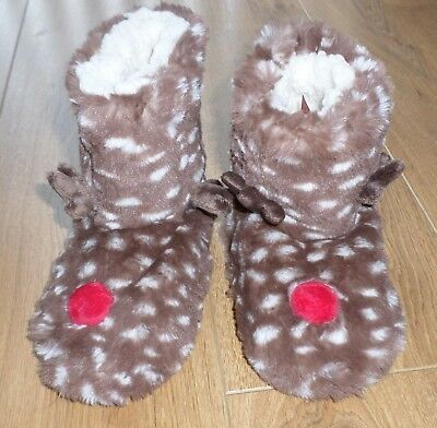Marks and Spencer Girls Christmas  Slipper Boots - Size 12 - New