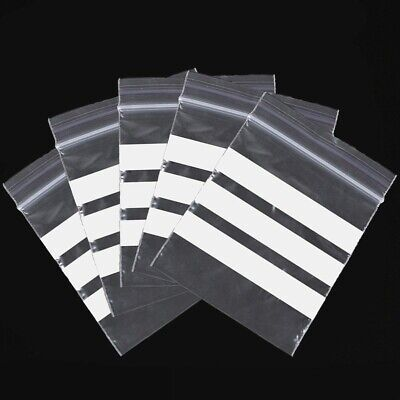 Clear Grip Seal Write On Panel Bags Resealable Different Sizes