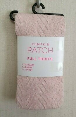 BNWT Pumpkin Patch Brand Girls 1 to 2 Yrs Winter Knit Pink Footed Style Tights