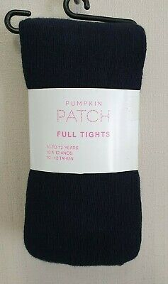 BNWT Pumpkin Patch Brand Girls 10 to 12 Yrs Full Navy Footed Style Tights