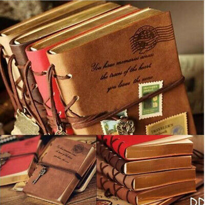 Retro Classic Vintage Leather Notebook Blank Diary String Journal Sketchbook l