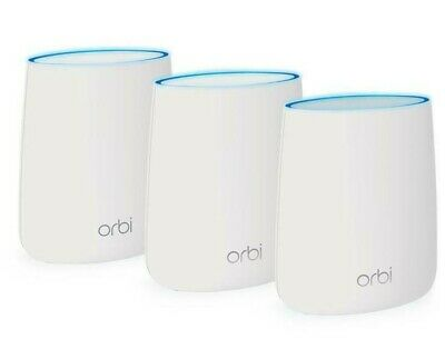 Netgear Orbi RBK23 Whole Home AC2200 Tri-band Mesh WiFi System 3 Pack In Box