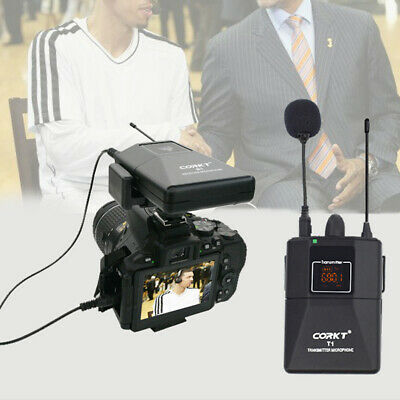 20 Channel Fifine UHF Wireless Lavalier Lapel Microphone System with Bodypack AU