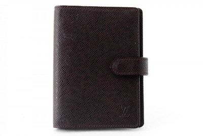 Authentic Louis Vuitton Taiga Mocha Brown Agenda PM Day Planner Cover TA6021-%