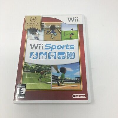 Nintendo Wii Sports Game Bowling Boxing Tennis Baseball Golf Complete In Box