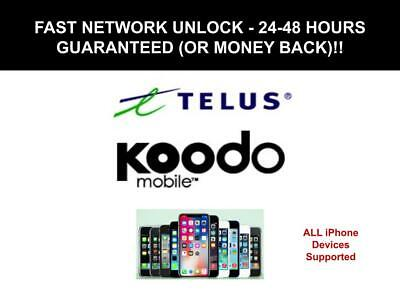 Telus / Koodo Unlock Code for All iPhone Devices - Fast Service 24 - 48 Hours!