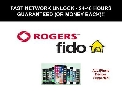 Rogers / Fido Unlock Code for All iPhone Devices - Fast Service 24 - 48 Hours!