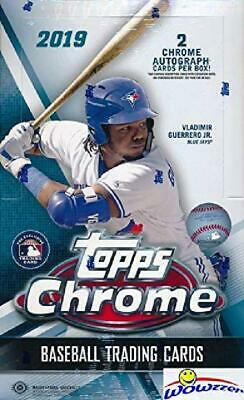2019 Topps Chrome MLB Baseball Factory Sealed HUGE 24 Pack HOBBY Box with (2) CH