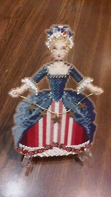 Finished Cross Stitched /Beaded Angel