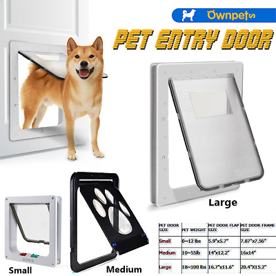 Dog Cat Screen Door Automatic Window Screen Flap Safe for Small Medium Large Pet