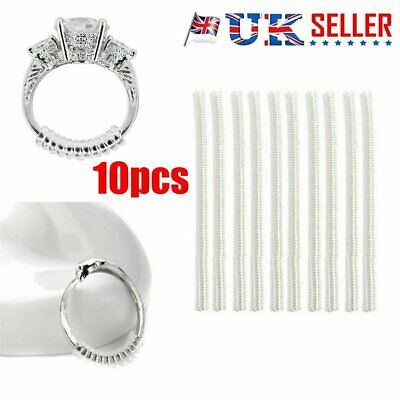 Universal Ring Size Adjuster Reducer Sizer SPIRAL STYLE Invisible Resizer Guar@I