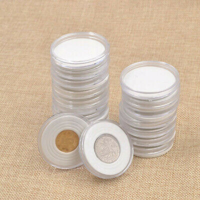 20pcs 46mm Applied Clear  Cases Coin Plastic Storage Capsules Holder  US S