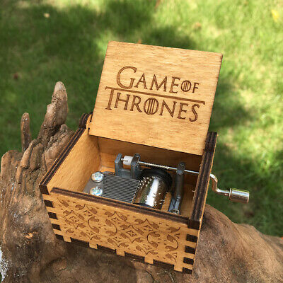 Game Of Thrones Harry Potter Hand Cranked Wood Music Box Fans Collection Gift