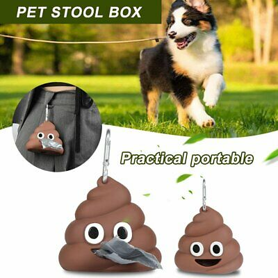 Biodegradable Dog Poo Bag Pet Waste Poop Pick Up Garbage Bags Bone Dispenser @I