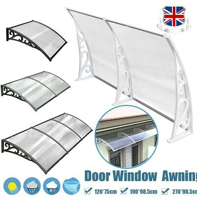 Outdoor Front Door Window Awning Patio Eaves Canopy UV Rain Snow Protect Cover