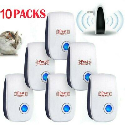 6 PACK Ultrasonic Pest Repeller Mosquito Cockroach Reject Mice Insect Bug Killer