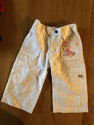 Girl2girl Age 3-4 Years Girl's White Trousers New With Tags