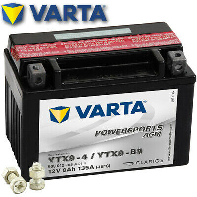Batterie Kymco Spacer 125 SH25 Bj. 1998 VARTA YTX9-BS (AGM)