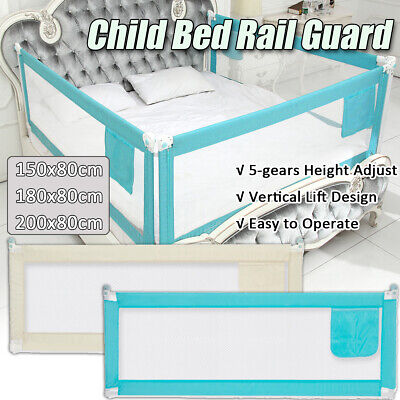 Baby Guard Bed Rail Toddler Safety Adjustable Kids Infant Bed Universal 71/79''