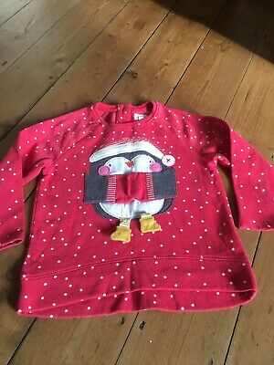 Gorgeous Next girls fleece lined Christmas jumper age 2-3 years
