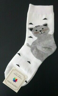 Ladies Cat Heeled Ankle Socks- Combed Cotton - UK 4-7 (3 colour choice)
