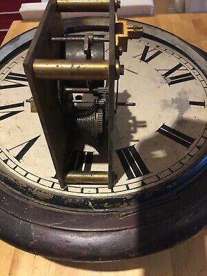 ELLIOTT workings 14 inch dial   fusee wall clock for restoration.