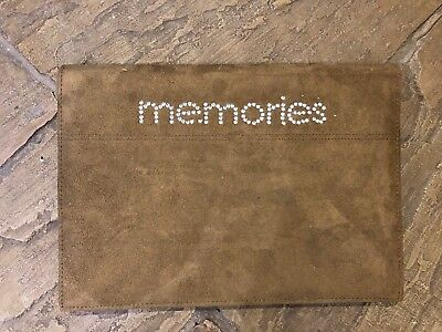 Scrapbook Album FAUX SUEDE MEMORIES 33 X 23 Cm VGC