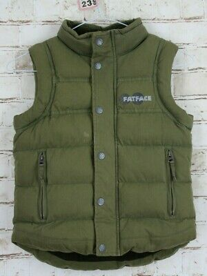 FAT FACE Olive Quilted Padded Gilet size 6-7 Years