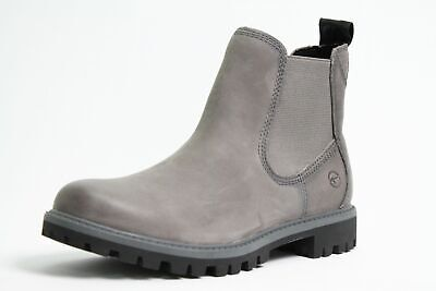 TAMARIS STIEFELETTEN ANTHRACITE grau Leder Vario finished
