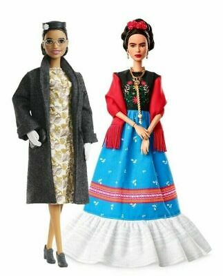 Barbie Inspiring Women Rosa Parks and Frida Kahlo w/ accessories