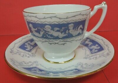 Coalport Revelry Footed Cup & Saucer Set-Bone China-Made In England-Gold Trim-#1