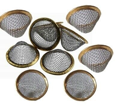 Cone Shaped Steel Pipe Screens Gauze Filter Mesh Brass Ring 15 20 Mm Small Large
