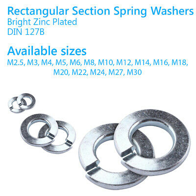 M10 ZINC BZP PLATED METRIC SPRING WASHERS BRIGHT HEAVY DUTY FREE POST