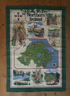 Northern Ireland Cotton Tea Towel,Free Uk Postage