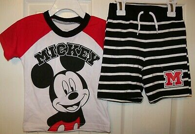 Mickey Mouse 2 Piece Shorts and Shirt Set Set Boys Size Toddler 5T NWT