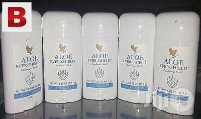 Forever Aloe Ever-Shield Deodorant Stick X 5 Pc / Brand New / Sealed / 92.1G