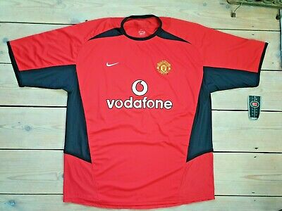 Manchester United 2002-2004 Shirt Vodafone Nike Home Red BNWT size XL Dri-Fit