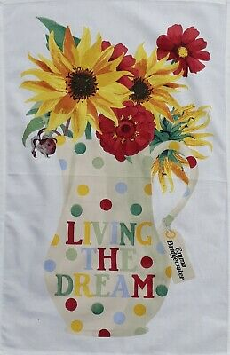 Live The Dream Cotton Tea Towel By Emma Bridgewater