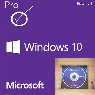 Genuine Microsoft Windows 10 Pro 64Bit Installation Disc and Key
