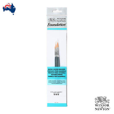 Winsor and Newton Golden Synthetic Watercolour Brush Set - 2, 4, 6 Round Brushes