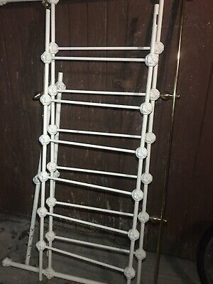 Antique Wrought Iron Bed Frame Head And Foot Rails Queen Cream Gold