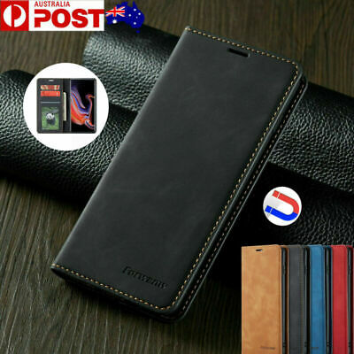 Fr Samsung Galaxy S10 5G S9 S8 Plus Magnetic Flip Leather Case Wallet Card Cover